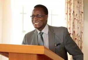 Prof. Jacob Kaimenyi, Kenya's Cabinet Secretary for Land, Housing and Urban Development addressing the workshop